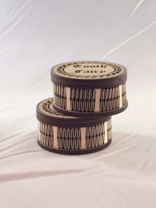 """These little boxes measure 2"""" in diameter and 1"""" tall."""